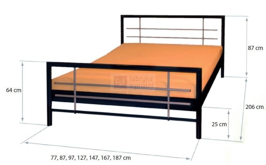 łóżko Mira Metalowe