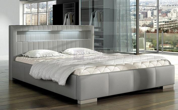 łóżko 81275 Tapicerowane Z Pojemnikiem Na Pościel Mk Foam Koło