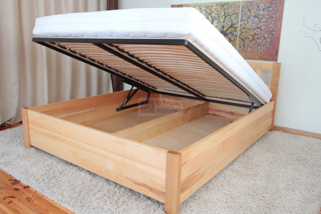 łóżko Pax Komfort Z Pojemnikiem Na Pościel Lite Drewno