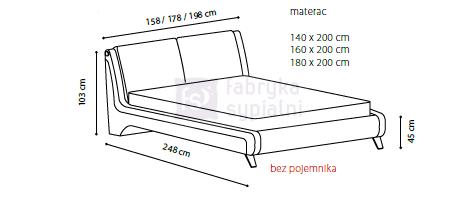łóżko Sydney Tapicerowane