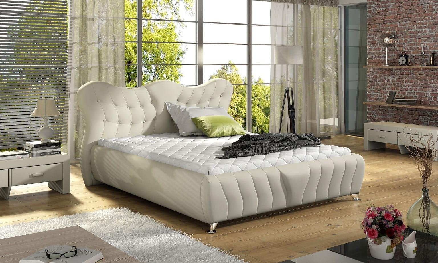 łóżko 81228 Tapicerowane Mk Foam Koło