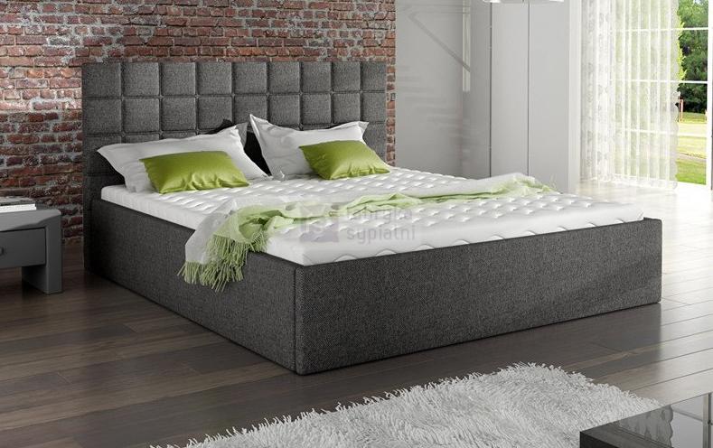 łóżko 81231 Tapicerowane Z Pojemnikiem Na Pościel Mk Foam Koło