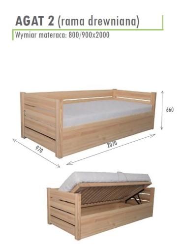 łóżko Agat 2 Z Pojemnikiem Na Pościel