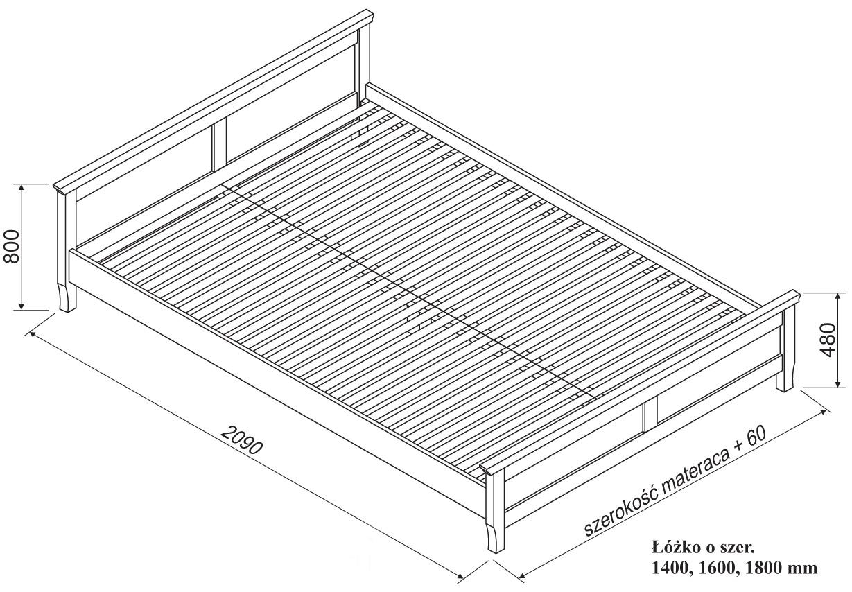 łóżko Amelia Brzozowe Spar Meble