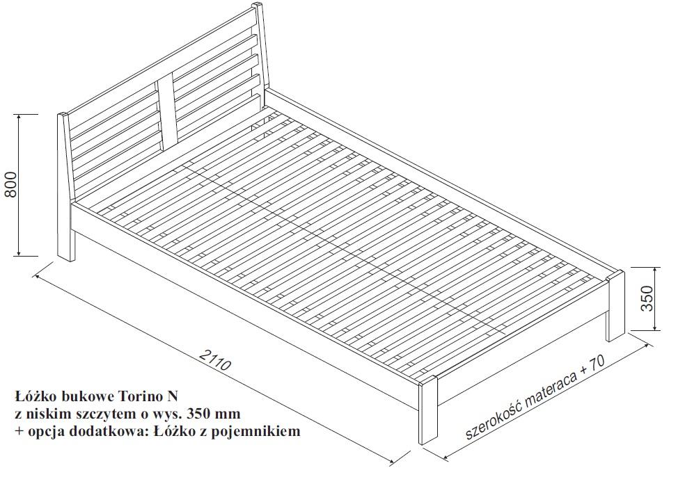 łóżko Bukowe Torino N Z Pojemnikiem Spar Meble