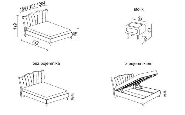 łóżko Princessa Tapicerowane